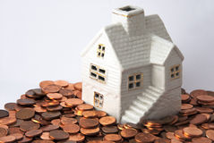 Geld voor huis Royalty-vrije Stock Afbeeldingen