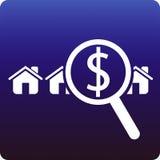Geld voor huis Stock Foto's