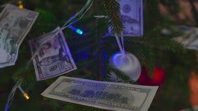 Geld voor Kerstmis stock footage