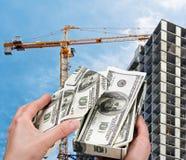 Geld voor nieuwe huisvesting Royalty-vrije Stock Foto's