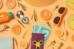 Geld voor overzee het reizen stock afbeeldingen