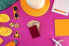 Geld voor overzee het reizen royalty-vrije stock afbeeldingen