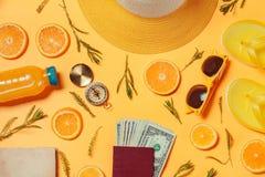 Geld voor overzee het reizen royalty-vrije stock foto's