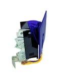 Geld voor school stock afbeelding