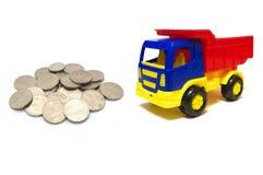 Geld voor vrachtwagen stock afbeelding