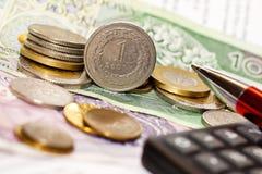 Geld, voorraad, munt Stock Fotografie