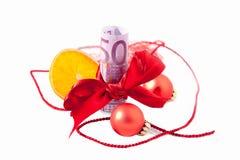 Geld vorhanden für Weihnachten Stockbild