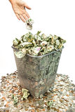 Geld wegwerfen Stockfotos