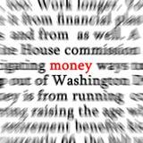Geld-Wort Lizenzfreie Stockfotos