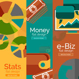 Geld, zaken, elektronische handelconcepten Royalty-vrije Stock Afbeelding