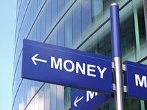 Geld-Zeichen Stockfoto