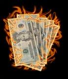 Geld zum zu brennen Lizenzfreies Stockbild