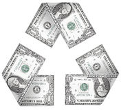 Geld-Zyklus Stockfoto