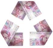 Geld-Zyklus Lizenzfreies Stockbild