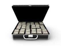 Geldaktenkoffer Lizenzfreies Stockfoto