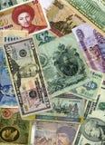 Geldansammlungshintergrund Stockfotografie