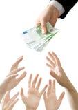 Geldansturm lizenzfreie stockbilder