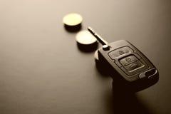 Geldauto-Schlüsselgeschenk Lizenzfreies Stockbild