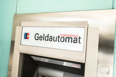 Geldautomat Royalty Free Stock Photography