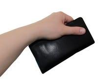 Geldbörse in der Hand lizenzfreies stockfoto