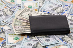 Geldbörse mit amerikanischen Dollar Lizenzfreie Stockbilder