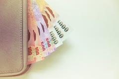 Geldbörse mit Banknoten Stockbilder