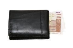 Geldbörse mit den Lats Stockfotografie