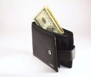 Geldbörse mit Geld Lizenzfreies Stockfoto