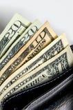 Geldbörse mit Geld lizenzfreie stockfotos