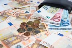 Geldbörse mit Geld Lizenzfreie Stockbilder