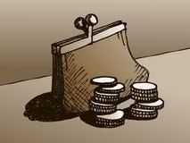 Geldbörse mit Geld Stockfotografie