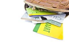 Geldbörse mit Kreditkarten lizenzfreie stockbilder