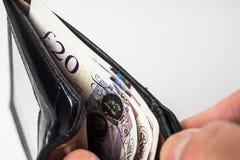 Geldbörse mit Zahlungsaufträgen lizenzfreies stockfoto