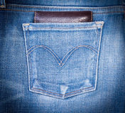 Geldbörse und Jeans Stockbild