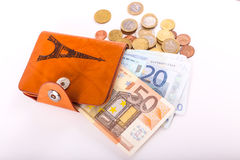 Geldbörsen-Euro stockfoto