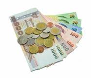 Geldbankbiljet en muntstuk Royalty-vrije Stock Foto
