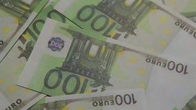 Geldbanknoten-Tabellenhintergrund niemand stock footage