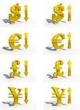 Geldbargeld 3d CG lizenzfreie abbildung