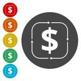 Geldbekehrtikone lizenzfreie abbildung