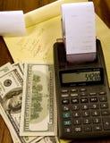 Geldberechnungen Stockfoto