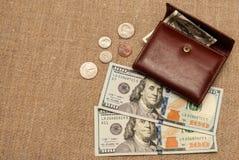 Geldbeutelgeld Lizenzfreies Stockfoto