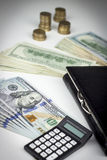 Geldbörse und Dollar Lizenzfreies Stockfoto
