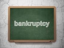 Geldconcept: Faillissement op bordachtergrond Stock Foto