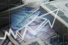 Geldconcept Investeringen die Hoogte kweken - kwaliteit stock afbeelding