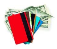 Geldcontant geld op een wit wordt geïsoleerd dat. Royalty-vrije Stock Foto