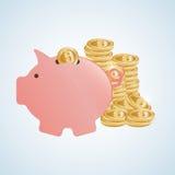 Gelddesign, Bank und Investitionskonzept Lizenzfreie Stockfotos
