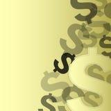 Gelddollarikone auf Gold Stockbild