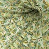 Gelddraaikolk van 20 de dollar van Nieuw Zeeland rekeningen royalty-vrije illustratie