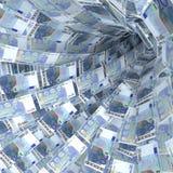 Gelddraaikolk van 20 euro rekeningen Royalty-vrije Stock Foto