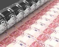 Gelddrucken Stockbild